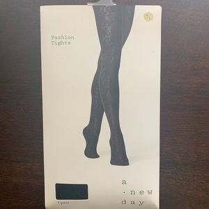 A New Day Fashion Tights Ebony/Black M/L
